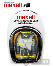MAXELL 190399 HEADPHONE EXTENSION CORD 20 ft & HP-20