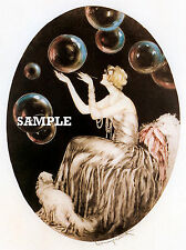 Louis Icart BUBBLES Fine Art Print on Canvas