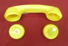 New Yellow Handset Shell & Caps for Payphone Handsets Pay Phone Telephone