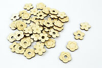 50x Mixed Wood Craft Shapes/ Flowers / DIY Project / Beads / Supplies