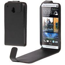 COVER CUSTODIA FLIP CASE per HTC ONE M7 801N PELLE FODERO NERO NUOVO FLAP GUSCIO