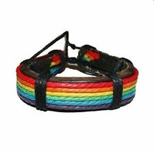 Gay Pride Bracelet Leather Bracelet Rainbow