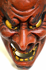 Japanese Traditional Kagura Mask ONI Demon Noh Kabuki Bugaku Samurai Gigaku