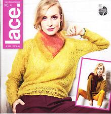 Lace No. 4 – Lana Grossa – Anleitungen, 44 Modelle, stricken, häkeln
