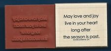 HOLIDAY BLESSING May Love Joy Heart Card Words NEW  Stampin' Up!  RUBBER STAMP