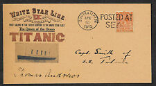 Titanic Postcard & Captain Autograph Reprint on Original Period 1912 Paper *102