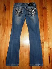 MISS ME EMBELLISHED STRETCH BOOT CUT JEANS SIZE 25 X 28 NICE