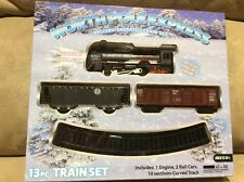 NEW North Pole Express 13pc TRAIN SET Battery Powered-Headlight- Christmas Gift
