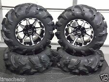 "HONDA PIONEER 1000 27"" MEGA MAYHEM 1.5"" LUG ATV TIRE & 14"" HD6 ATV WHEEL KIT L5"