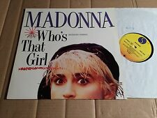 """MADONNA - WHO'S THAT GIRL / WHITE HEAT - 2-TRACK-12""""-MAXI-SINGLE - GERMANY 1987"""