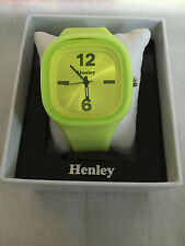 New Henley Men's Big Square Face Sports Watch with Silicon Strap