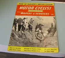 January 1959 Motor Cyclist Illustrated Magazine Mopeds Scooters Photos Europe