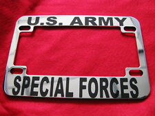 U.S. Army-SPECIAL FORCES-Motorcycle License Frame-Chrome Cast Metal-#821014B