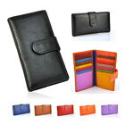 Women Genuine Leather Bifold Snap Credit Name Card Holder Case Wallet Purse Bag