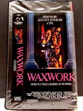 Vintage Horror Movie Waxwork VHS 80's Slasher OOP Rare Scary UNCENSORED