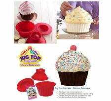 3pcs Giant Big Silicone Cupcake Cake Mould Top Cupcake Bake Set Baking Mold FE