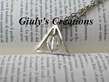 Collana dei Doni della Morte di Harry Potter con cerchio centrale GIREVOLE