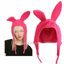 BOBS BURGERS LOUISE PINK BUNNY RABBIT EARS Costume Beanie Cap Hat Cosplay NEW