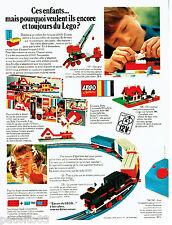 PUBLICITE ADVERTISING 026 1969   Lego   jeux jouets