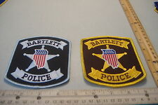 ~BARTLETT~ILLINOIS POLICE PATCHES~TWO DIFFERENT STYLES~