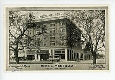 "Hotel Medford ""Tourists Linger Longer"" Antique Advertising PC Bus/Taxi ca. 1924"