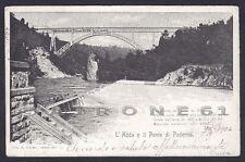 LECCO PADERNO D'ADDA 05 PONTE Fiume ADDA Cartolina viaggiata 1904