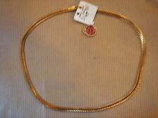 CHAINE PLAQUE OR MAILLE TRESSE L 44.5 CM 24G VINTAGE NEUF/NEW GOLD PLATED CHAIN