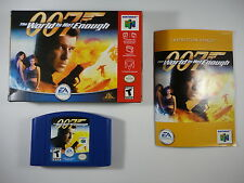 ¤ World Is Not Enough 007 ¤ Complete in Box GREAT Nintendo 64 N64