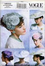 VOGUE SEWING PATTERN 8052 MISSES RETRO VINTAGE1950s MILLINERY HATS, FIVE STYLES