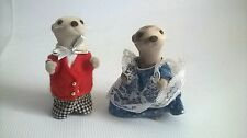 Sylvanian Families RARE Figures Vandyke Otters Family Adult Lock Keepers Cottage
