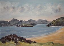 Original Oil Painting Art CONNEMARA COASTAL IRELAND by Irish Artist EI BRYCE