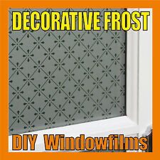 DECORATIVE FROSTED PRIVACY WINDOW FILM - Antique 1