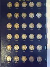 Complete 79 coin Set Mercury Dime Collection with 1916 D and 1942/1 D