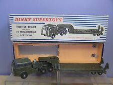 FRENCH DINKY TOYS MODEL No.890  BERLIET T6 TANK TRANSPORTER WITH GLAZING  VN MIB