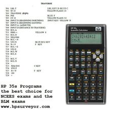 Hp 33s, Hp 35s, HP-33S 32S Calculator COGO programs