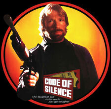 80's Chuck Norris Classic Code of Silence Poster Art custom tee AnySize AnyColor
