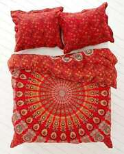 NEW Urban Outfitters Hippie Mandala Cotton Duvet Cover Full/Queen Red Color
