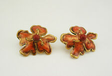Chico's Enameled Flower Earrings