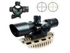 Hunting 2.5-10x40 Tactical Rifle Scope Mil-dot Dual illuminated Red Laser&Mount