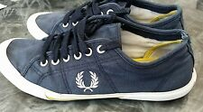 Fred Perry Mens CanvasTrainers (Blue)  Shoes Sz UK 8 Slight fade