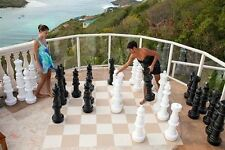 "Giant Plastic Chess Set with a 37"" King - Garden Chess Set - Outdoor Chess Set"