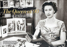 (DAILY) MAIL ON SUNDAY THE QUEEN AT 90 YEARS SOUVENIR CALENDAR 2016 FREE UK P&P