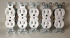 15-A, 125 Volt, Duplex Receptacle, Grounding, White Leviton Outlet Adapters