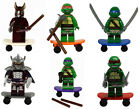 TMNT Teenage Mutant Ninja Turtles Splinter Shredder 6 Mini Figures Building Toy