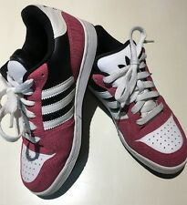WOMEN'S ADIDAS SKATE STYLE SHOES - SIZE 8  - PINK, BLACK AND WHITE-
