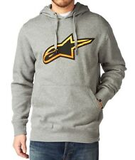 Alpinestars Racing Fire Logo Motocross Mens Gray Hoodie Size Medium