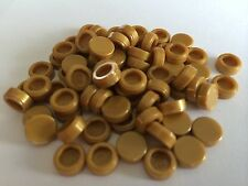 Lego New Lot Od 25 Pearl Gold 1x1 Round Smooth Finishing Tile Floor Roof Money