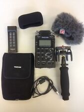 Tascam DR -100 MKII Registratore pcm lineare Bundle Inc Remote + SUPPORTO AUDIO KIT