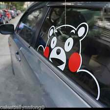 Anime Kumamon Cosplay 3D Stickers Hollow Vinyl Decal Wall Auto Car Window Deco