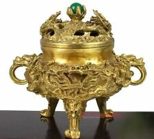 Collectible Chinese Brass Kowloon incense burner